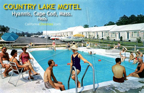 Country Lake Motel, Hyannis, Cape Cod, 1960s