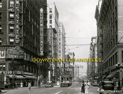 Downtown Los Angeles, 7th & Broadway, c.1930