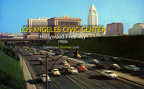 LOS ANGELES CIVIC CENTER #2, Hollywood Freeway, 1950s
