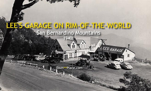 Lee's Garage on Rim-of-the-World, 1940s