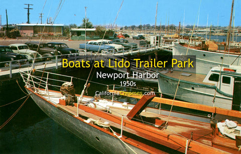 LIDO TRAILER PARK BOATS - Newport Harbor, California 1950s