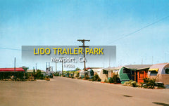 LIDO TRAILER PARK - Newport Harbor, California 1950s
