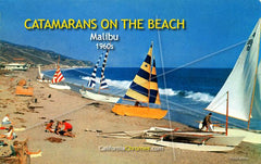 Catamarans on the Beach, Malibu 1950s