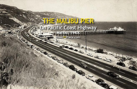 The Malibu Pier on Pacific Coast Highway, c.1940s