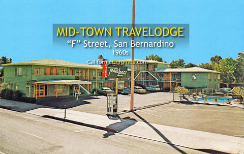 MID-TOWN TRAVELODGE - SAN BERNARDINO, California 1950s