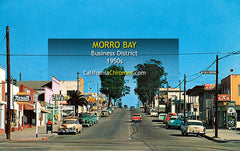 BUSINESS DISTRICT - MORRO BAY, California 1950s
