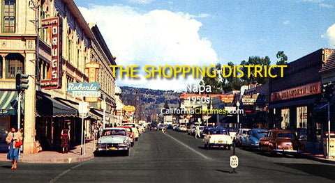 The Shopping District, Napa c1950s