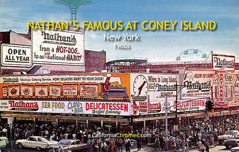 Nathan's Famous at Coney Island New York, c.1961