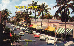 WORTH AVENUE - Palm Beach, FL c.1955