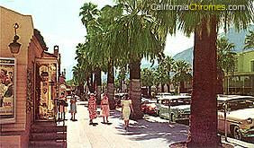 Shoppers on Palm Canyon Drive c.1960