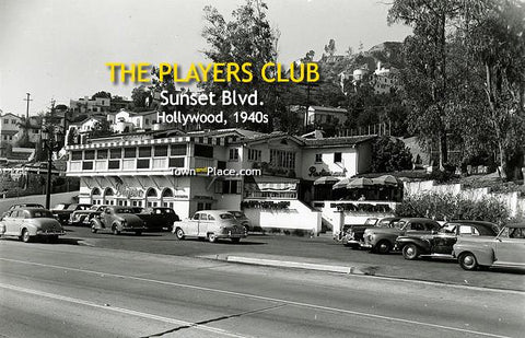 The Player's Club, Sunset Blvd., Hollywood, 1940s