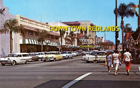 Looking East on State Street Redlands, c.1960