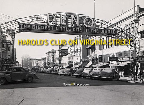 Harold's Club on Virginia Street, Reno, 1940s