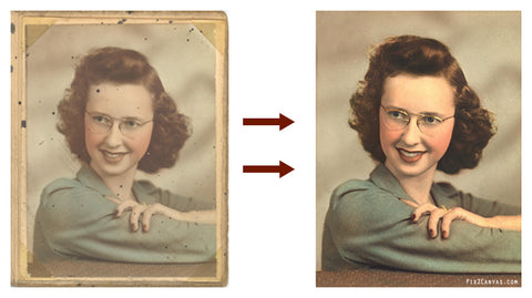 Photo restored for Customer A