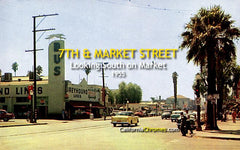 7th and Market Streets Looking South on Market Riverside, 1955