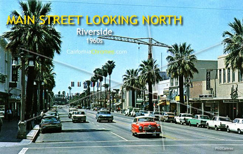 Main Street Looking North, Riverside, 1960s
