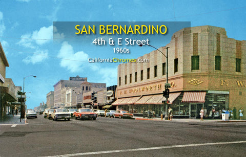 "SAN BERNARDINO, California - 4th and ""E"" Streets"