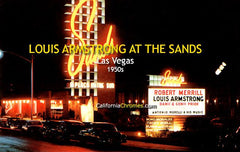 Louis Armstrong at the Sands, Las Vegas  c1950s