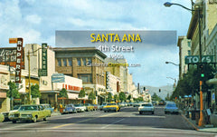 4TH STREET - Santa Ana, California 1960s