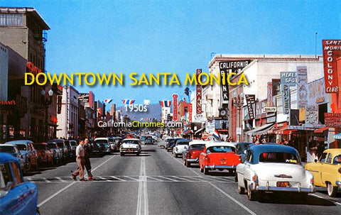 Downtown Santa Monica c.1955