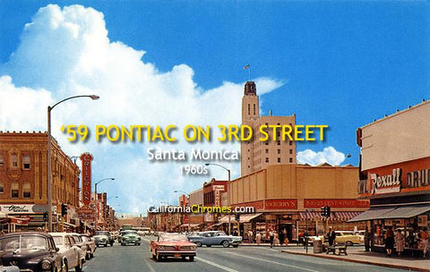 '59 Pontiac on 3rd Street Santa Monica, c.1960
