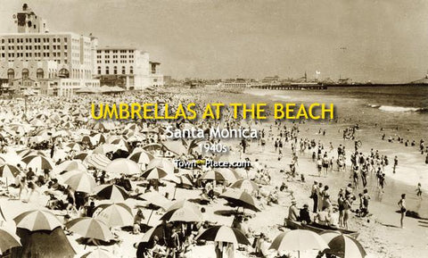 Umbrellas at the Beach, Santa Monica c.1940s