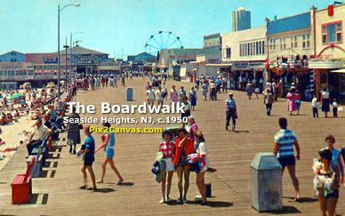 Seaside Heights, New Jersey, Boardwalk, 1950s
