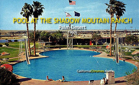 Pool at the Shadow Mountain Ranch Palm Desert, c.1960