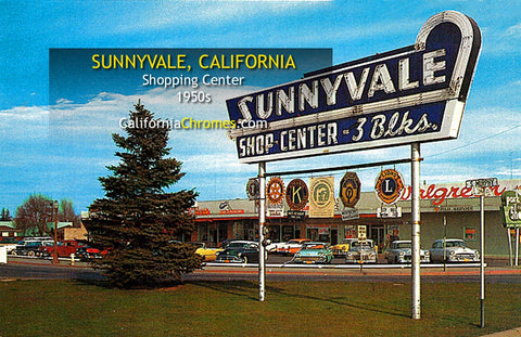 SUNNYVALE SHOPPING CENTER, Sunnyvale, California 1950s