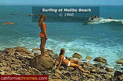Watching the Surfers at Malibu c.1958