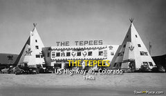 The Tepees, Highway 40, Colorado, 1940s