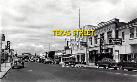 Texas Street, Fairfield, 1950s