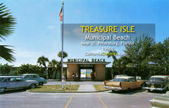 MUNICIPAL BEACH - Treasure Isle Beach, Florida 1960s