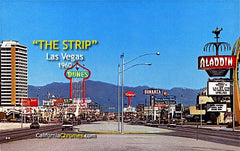 """The Strip"" Las Vegas, 1960 canvas wall art"