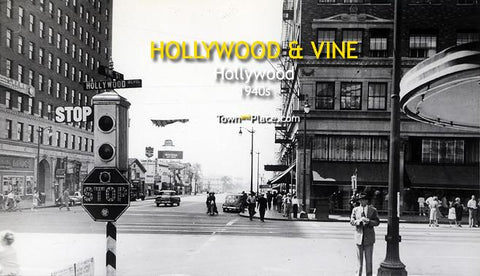 Hollywood and Vine, Hollywood, 1940s
