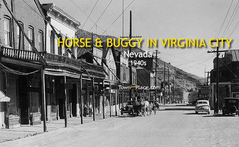 Horse & Buggy in Virginia City, Nevada, 1940s