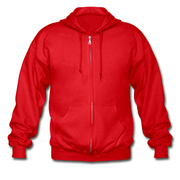 Gildan Heavy Blend Adult Zip Hoodie - red