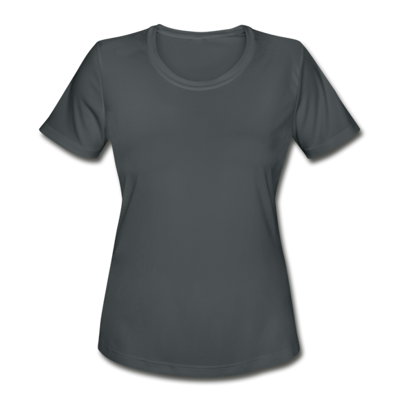 Women's Moisture Wicking Performance T-Shirt - charcoal