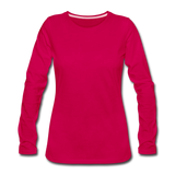 Women's Premium Long Sleeve T-Shirt - dark pink