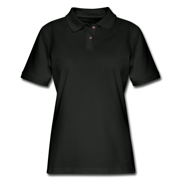 Women's Pique Polo Shirt - black