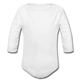 Organic Long Sleeve Baby Bodysuit - white