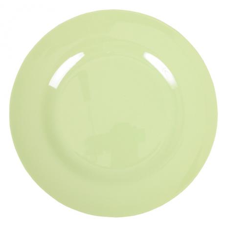 Melamine Round Dinner Plate in Mint