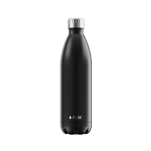 FLSK Isolierflasche 1000ml Black - Feinkost powered by Innkaufhaus