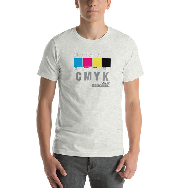 Camiseta de manga corta para hombre «CMYK» only for Graphic Designers