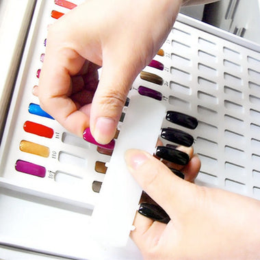 Nail Art UV Gel Tips Display Card Chart Book Hundreds Salon Studio Polish Colors Holder Set