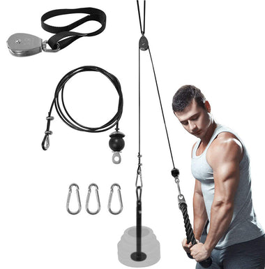 Pulley Arm Biceps Trainer Triceps Workout Weight Lifting Gym Strength Training Wrist Roller Home Exercise Tools