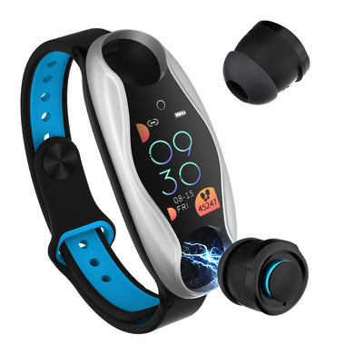 LEMFO LT04 Wireless bluetooth Earphone Color Screen Wristband BT5.0 Hear Rate O2 Monitor Smart Watch