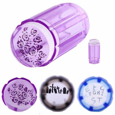 Transparent Silicone Nail Art Stamper Scraper Set Manicure Tools DIY Design