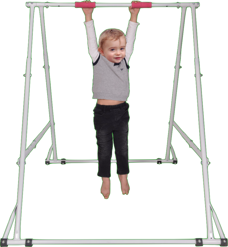 MODEL KT1.0914: ONE-TIERED FOLDING PULL UP BAR FOR KIDS FROM 35.4 INCHES – 55.1 INCHES TALL