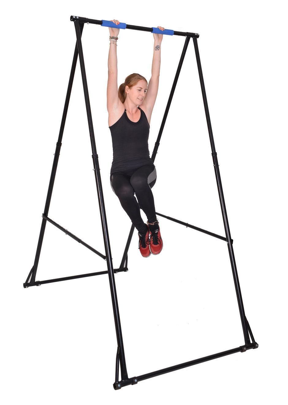"MODEL KT1.1518: ONE TIERED FOLDING PULL UP BAR FOR USERS FROM 4′ 7"" – 5′ 11"""